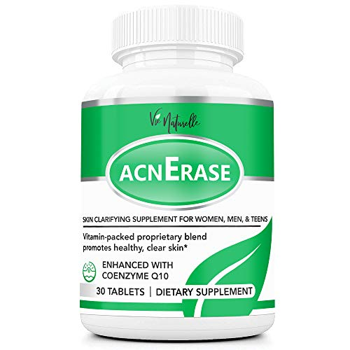 AcnErase - Acne Pills Supplement Treatment for Men, Women, Teens - 30 Natural Tablets