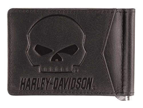 - Harley-Davidson Men's Outsider Money Clip Leather Wallet w/RFID HDMWA11646