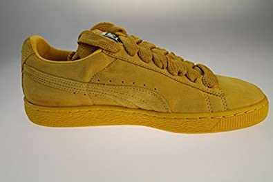 Puma Suede Classic Eco Yellow Trainers 352634 18: Amazon.co
