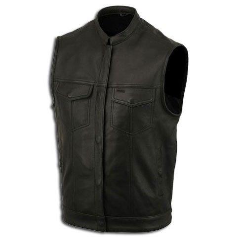 Lederweste, Bikerweste, Motorradlederweste, Clubweste, Chopperweste, Rocker Weste, KUTTE, Vest, Leather Vest, Leather Waistcoat Gr, L