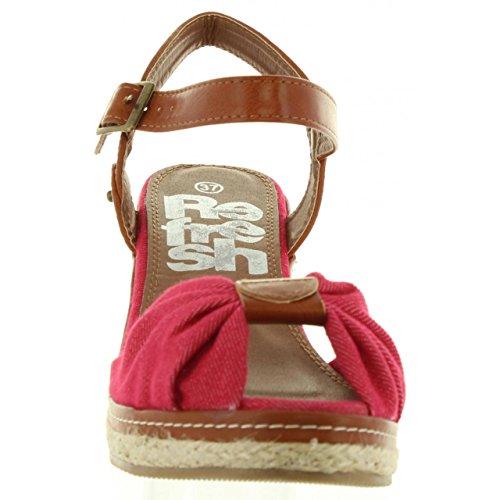 Rojo Lona 63396 Compensées Refresh Chaussures Femme Pour nCzOqvqw