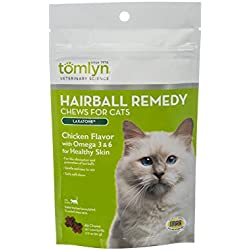 Tomlyn Natural Hairball Remedy Chews for Cats, (Laxatone) 60 Chews