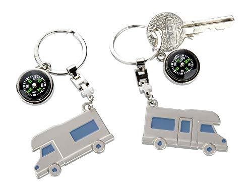 41h0fDWDwKL GILDE Schlüsselanhänger Wohnwagen Wohnmobil mit Kompass