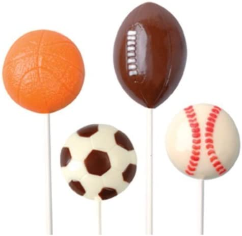 Amazon Com Make N Mold Dress My Cupcake Sports Ball Pops Candy Mold Sports Cupcake Stand Kitchen Dining