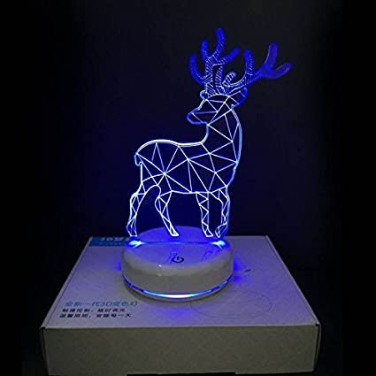 LED Deer Lamp with Wireless Remote Control 16 Colors for Home Room Bar Party Festival Decor Kids Bedroom Birthday Presents, etc. DONJON Baby Sleep lamp