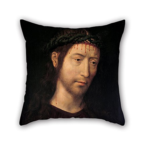Slimmingpiggy Oil Painting Hans Memling - The Man Of Sorrows Blessing Throw Pillow Case ,best For Living Room,kitchen,home,festival,girls,floor 20 X 20 Inches / 50 By 50 Cm(each