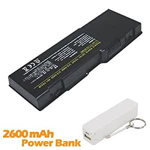 Battpit Bateria de repuesto para portátiles Dell 312-0457 (4400mah / 49wh) con 2600mAh Banco de energía / batería externa (blanco) para Smartphone