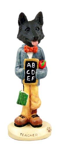 German Shepherd Black Teacher Doogie Collectable Figurine
