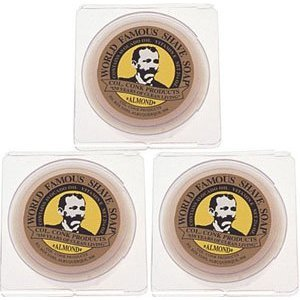 Col. Conk World's Famous Shaving Soap, Almond * 3 - Pack * Each Net Weight 2.25 Oz by Colonel Conk (Shave Colonel Mug Conk)