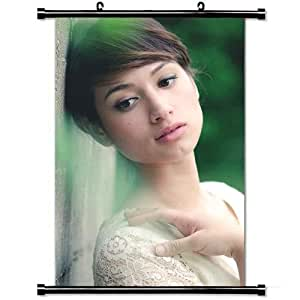 Girly Wall Posters,Brunette Asian Look Dress Stylish and Custom Wall Scroll Poster Fabric Painting 23.6 X 35.4 Inch (60cm X 90 cm)