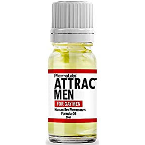 PhermaLabs Pheromones Cologne Oil For Men- 10 ml- Attract Gay Men Instantly- Highest Concentration Of Pheromones Possible- Increases Sex Drive- Fresh & Long-lasting Smell #025