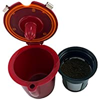 NRP Burgundy Refillable Vue-cup Permanent Coffee Filter for Keurig VUE Brewers 2in1 Functions