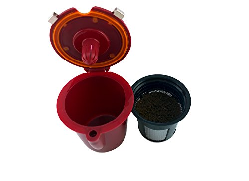 Burgundy Refillable (NRP Burgundy Refillable Vue-cup Permanent Coffee Filter for Keurig VUE Brewers 2in1 Functions)