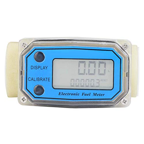 "Turbine Flow Meter, Flow Water Meter 15-120L/min 1"" NPT Digital Fuel Meter Water Flow Meter Diesel Oil Fuel Flow Meter, Fuel Flow Meter"