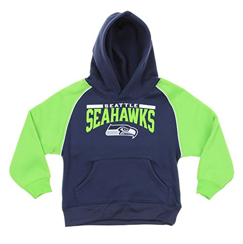 Outerstuff NFL Little Boys Toddlers Seattle Seahawks Pullover Fleece Hoodie, Navy