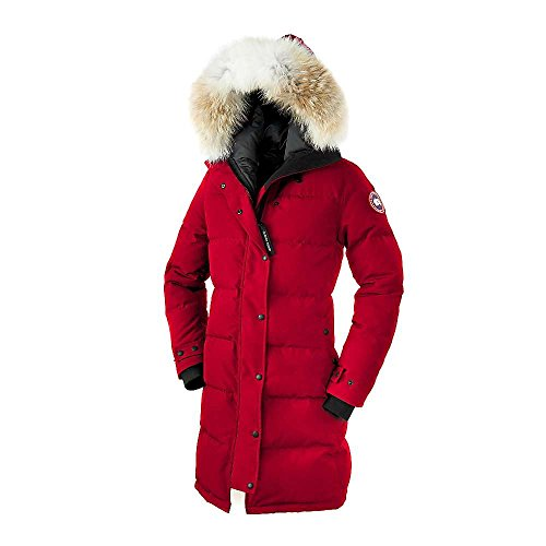 Canada Goose Shelburne Parka - Women's Red Small (Ruff Goose Canada)