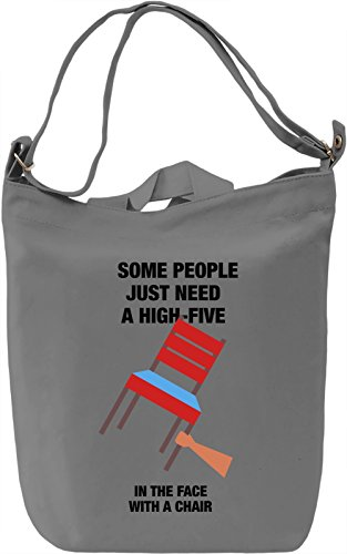 Some people just need a high-five Borsa Giornaliera Canvas Canvas Day Bag  100% Premium Cotton Canvas  DTG Printing 