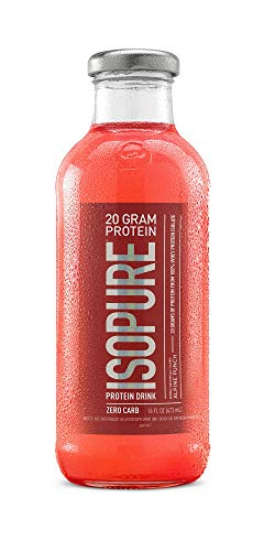 Isopure 20g Protein Drink, 100% Whey Protein Isolate, Zero Carb, Keto Friendly, Flavor: Alpine Punch, 12 Count ()