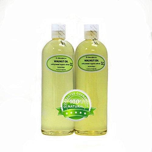 2 of 16 Oz Walnut Oil Organic Cold Pressed 100% Pure Undiluted 1 Quart