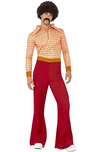 [Mememall Fashion 70s Cool Guy Disco Men Adult Costume] (70s Couple Costumes)