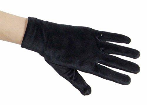Velvet Charisma Above Wrist Gloves, Black
