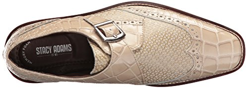 Stacy Adams Mens Giannino-moine Sangle Bout Daile Slip-on Mocassin Taupe