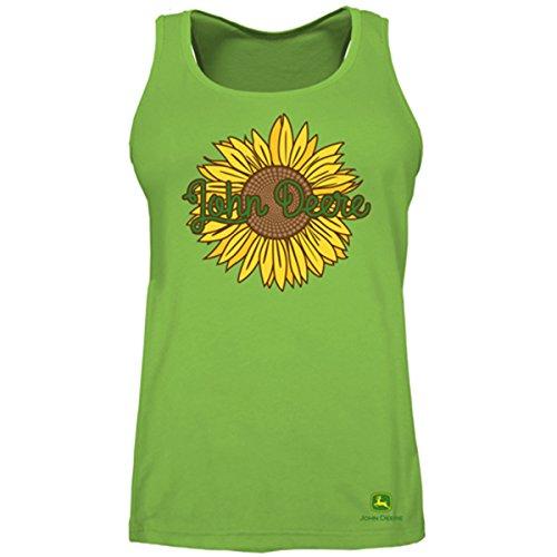 John Deere Sunflower Ladies Tank Top-Large (Ladies Shirt John Deere)