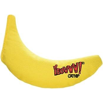 Yeowww! 100% Organic Catnip Toy, Yellow Banana 3 Pack