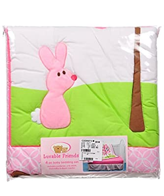 Treetop Friends 4 Piece Baby Bedding Set by Luvable Friends