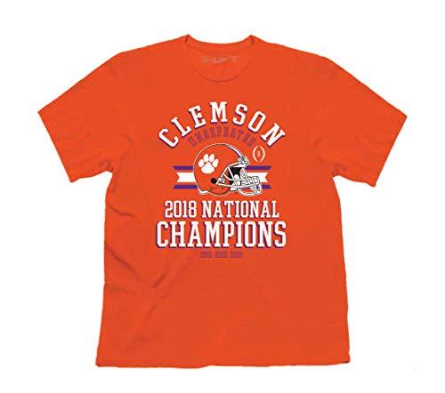 NCAA Clemson Undefeated 2018 National Champions Short Sleeve T-Shirt-Large Orange
