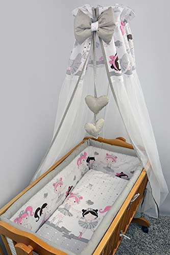 Crib All Round Padded Thick Bumper 260 cm, 90x40 cm Crib size - Pattern 19 BabyComfort