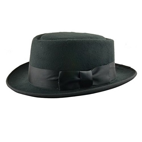 Xcoser Breaking Bad Hat Walter White Cosplay Heisenberg Hat Pork Pie Cap in Black