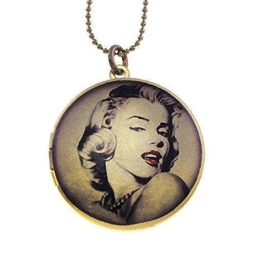 Urban Rose Marilyn Monroe Glamour Brass Photo Locket Pendant - Art ()