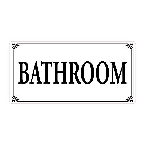 Door Sign Gloss Vinyl self Adhesive EnSuite Office Laundry Bedroom Kitchen Shower Room Utility Toilet Bathroom Nursery Lounge Private Custom Color - Made in USA