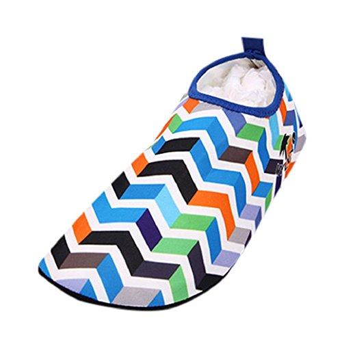 Elevin(TM)Men Women Yoga Aerobics Surf Beach Pool Sand Snorkeling Sport Swimming Diving Flippers Socks Barefoot Skin Walking Water Shoes Blue 3