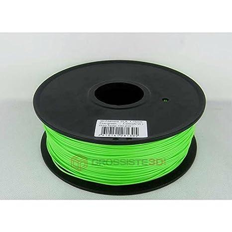 Filamento 3D Fluorescent verde PLA para impresora 3D 3,00 mm ...