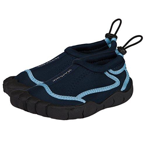 Bockstiegel Kinder Badeschuhe | Strandschuhe | Surfschuhe Aus Neopren für Mädchen oder Jungen | Rutschfeste Gummisohle Blau