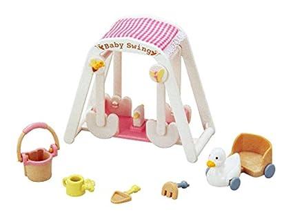 Amazon.es: Calico Critters Cama y jugar juegos - Triple litera cama, Baby Swing & doble cochecito de bebé - tres sets (importación de Japón): Juguetes y ...