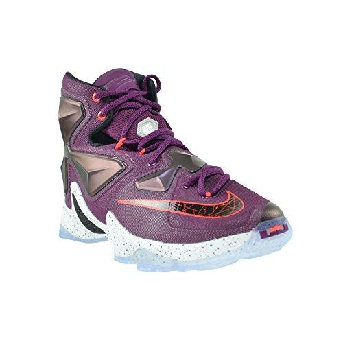 Uomo Nike Lebron Xiii Basket Scarpa Gelso / Platino Nero-viola Viola Vivido