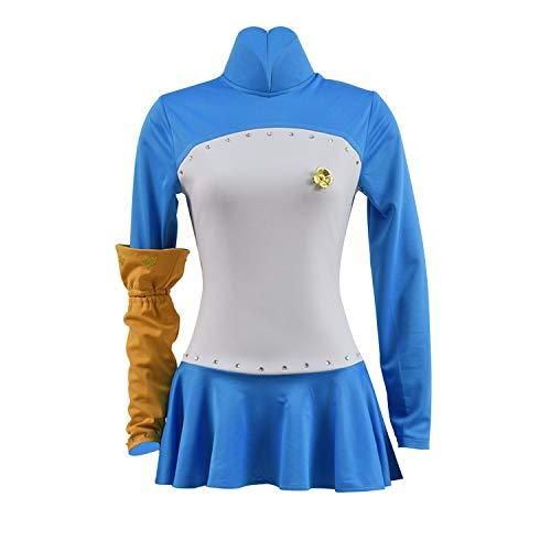 HICOSER Women's Elizabeth Liones Dress Cosplay Costume Halloween Blue Skirt Uniform Outfit Suit ()