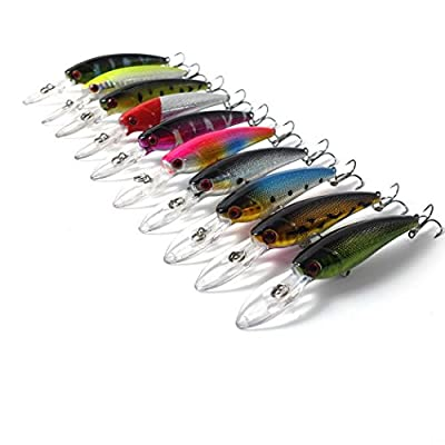 10 pcs/Lot 9cm 8G Fishing Lures Hard Bait 10Colors Ice Fishing Tackle Iscas Artificiais Minnow Pesca