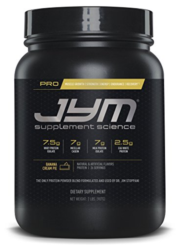JYM Supplement Science, PRO JYM, An optimal Blend of Whey, Casein, and Egg Proteins, Banana Cream Pie, 2lb - Banana Protein Powder Pie Cream