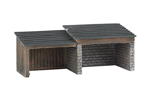 Resin Train Set (Bachmann Trains Thomas & Friends Storage Shed Resin Building Scenery Item HO Scale Train Set)