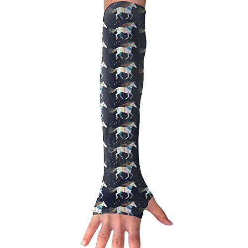 White Bohemia Unicorn Arm Sleeves UV Protection For Men Women Youth Arm Warmers For Cycling Golf Baseball Basketball