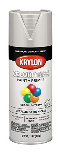 Krylon K05589007 COLORmaxx Spray Paint, Aerosol, Satin Nickel (Best Satin Nickel Spray Paint)