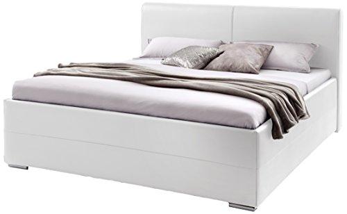 Sette Notti Polsterbett Bett 180x200 Weiß Boxspringbett Optik