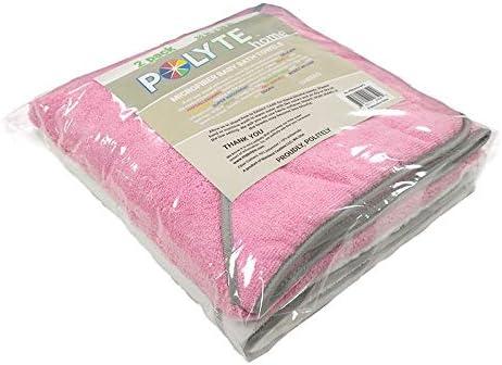 91,4 x 91,4 cm 2 Capes de Bain b/éb/é en Microfibres Premium hypoallerg/énique Capuche Polyte Rose//Blanc