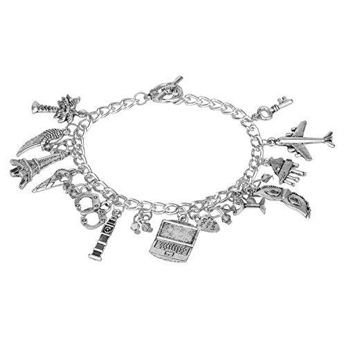 Accessorisingg 50 Shades of Grey Multiple Charm Bracelet [BR085]