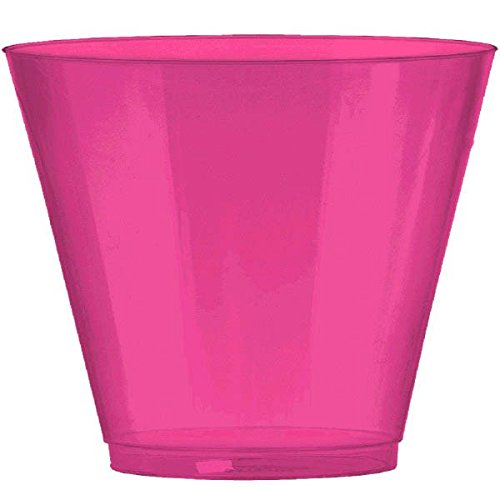 Amscan 350366.103 Party Supplies, 9 oz, Pink