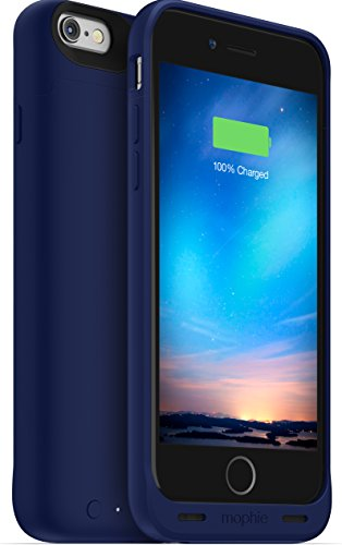 mophie juice pack reserve - Lightweight and Compact Mobile Protective Battery Case for iPhone 6/6s - Blue